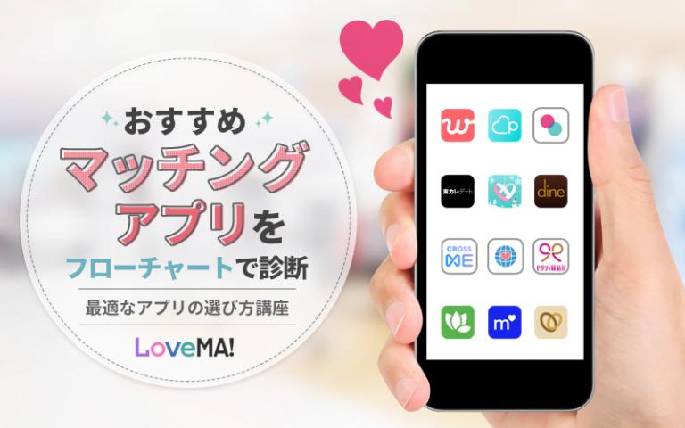 おすすめマッチングアプリをフローチャートで診断|編集部全員が使い倒してわかった最適なアプリの選び方講座 | LoveMA!(ラブマ!)