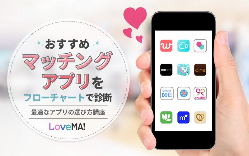 マッチングアプリ 比較 【2020年最新】おすすめのマッチングアプリランキング!人気の恋活・婚活アプリはどれ?徹底比較! | LoveMA!(ラブマ!)