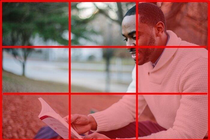 三分割構図の例